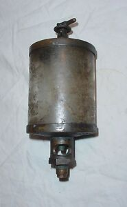 Large Brass Hit Miss Gas Steam Engine Cylinder Oiler Michigan Detroit Essex