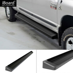 Iboard Black Running Boards Style Fit 09 18 Dodge Ram 1500 2500 3500 Crew Cab