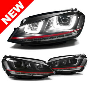 Vw Mk7 Golf gti Helix Projector Headlights W Led Drl Led Turn Signals