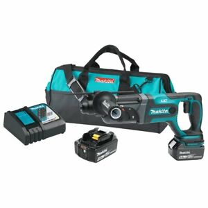 Makita Xrh04t 18 volt 5 0 Ah Lxt Lithium ion Cordless Sds plus Rotary Hammer Kit