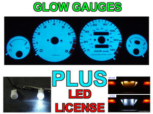 Combo Jdm Blue Green Glow Gauge Led Bulbs For 1990 1993 Acura Integra Ls Gs Rs