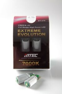 Authentic Mtec Extreme Bright T10 168 194 2825 W5w 7000k Cree Led Bulbs