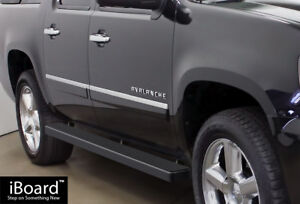 Iboard Running Boards 5in Black Fit 00 20 Chevy Avalanche Suburban Gmc Yukon Xl