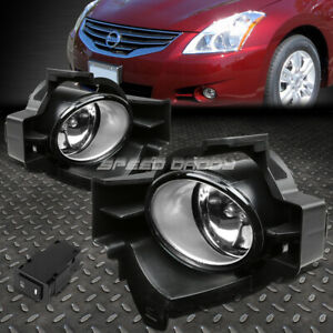 For 10 12 Nissan Altima 4dr Clear Lens Bumper Driving Fog Light Lamps W switch