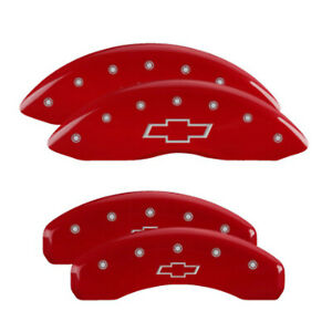Mgp 14004sbowrd Front Rear Red Disc Brake Caliper Covers For Silverado 1500
