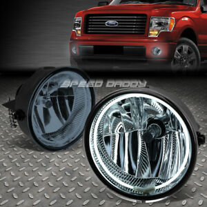 For 11 14 Ford F150 mark Lt Smoked Lens Oe Driving Pair Halo Ring Fog Light Lamp