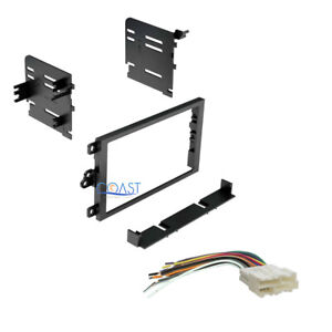 Double Din Car Radio Stereo Dash Kit Wire Harness For 1988 1995 Buick Cadillac