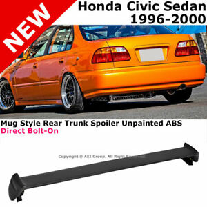 For Civic 4d 96 00 Rear Spoiler Trunk Lid Lip Wing Mug Style Jdm Trim Bolt On