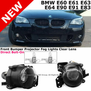 04 13 E60 E90 3 5 Series M3 M5 Style Projector Fog Lights Lamps Direct Bolt On