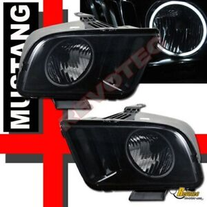 Black Smoke 05 06 07 08 09 Ford Mustang Gt G3 Super Bright Halo Headlights