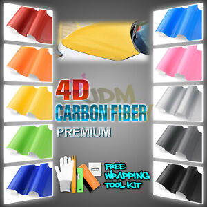 Premium 4d Gloss Carbon Fiber Vinyl Wrap Sticker Decal Sheet Bubble Free Film