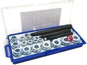 New 20 Pc Bushing Installer Remover Inserting Set Driver Tool Kit Automotive