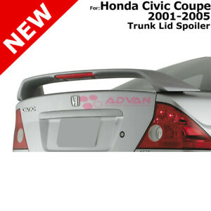 Honda Civic 2d Coupe 01 05 Abs Trunk Rear Wing Spoiler Unpainted Smooth Primer