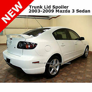 Mazda 3 Sedan 03 09 Abs Trunk Rear Wing Aero Spoiler Unpainted Smooth Primer