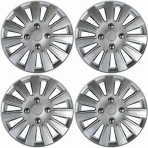 Hubcaps Fits 12 15 Toyota Yaris Pack Of 4 15 Inch Wheel Cover Rim Skin Silver