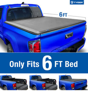 Tyger T1 Roll Up Tonneau Cover For 2005 2015 Toyota Tacoma 6ft Bed