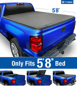 Tyger T3 Tri Fold Tonneau Cover For 2007 2013 Silverado Sierra 5 8 Bed