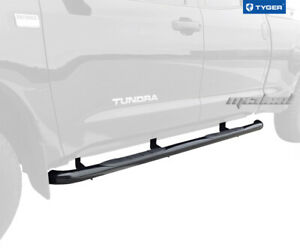 3 Black Side Step Nerf Bars Fit 2007 2020 Toyota Tundra Double Cab