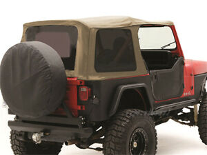 Smittybilt Spice Oe Style Soft Top W tinted Windows For 88 95 Jeep Wrangler Yj