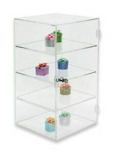 Counter Jewelry Bakery Display Case 4 Shelf Plexiglass