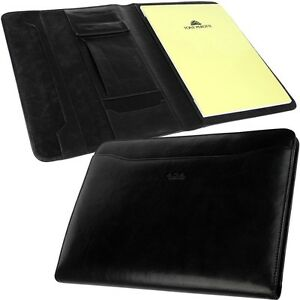 Tony Perotti A4 Writing Case Leather Wallet Office Documents Folder Conference