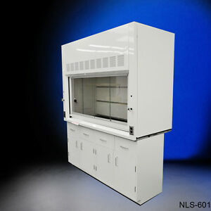 Laboratory Chemical 6 Fume Hood With Epoxy Top Base Cabinets New p