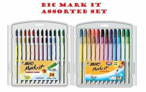 Bic Mark it Permanent Markers Fine Point And Ultra Fine Point Assorted As