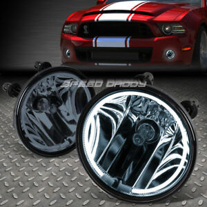 For 07 14 Mustang Shelby Smoked Lens Oe Driving Pair Halo Ring Fog Light Lamp