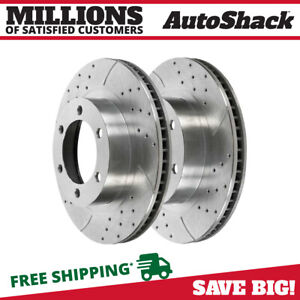 Front Drilled Slotted Rotors Pair 2 For 99 2006 Chevrolet Silverado 1500 56825