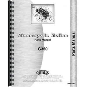 Parts Manual For Oliver Minneapolis Moline 1265 1270 Tractor
