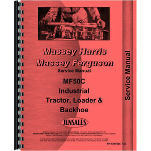 New Massey Ferguson 50c Tractor Loader Backhoe Service Manual