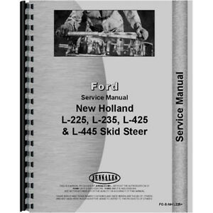 Service Manual For New Holland L425 Skid Steer