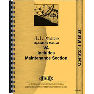 Operators Manual For Case Vah Tractor With Worm Gear Steering Eagle Hitch