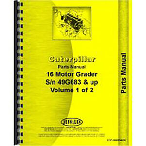 For Caterpillar 16 Motor Grader Parts Manual new