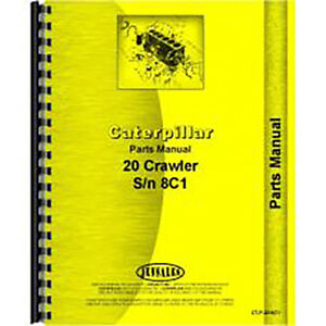 For Caterpillar 20 Crawler Parts Manual new