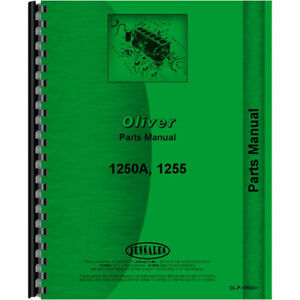 Oliver 1250a Tractor Parts Manual