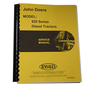 New Service Manual For John Deere Tractor 80