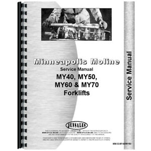 New Minneapolis Moline My40 Forklift Service Manual