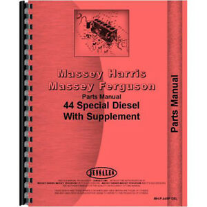 Massey Harris 44 Tractor Parts Manual w Hydraulic