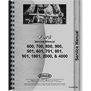 Fo s 600 700 Ford 4000 Tractor Service Manual 4 Cyl