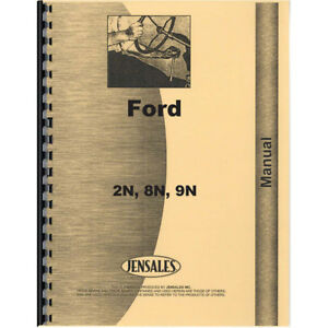 Fo s 2n 8n 9n Service Manual For Ford 8n Tractor 1947 To 1952