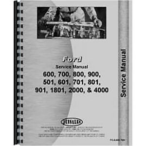 Fo s 600 700 Ford 860 Tractor Service Manual