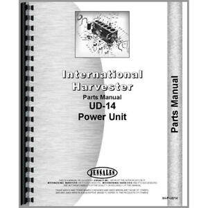 New International Harvester Ud14 Tractor Parts Manual