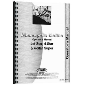 New Operators Manual Made For Minneapolis Moline Tractor Model 4 Star