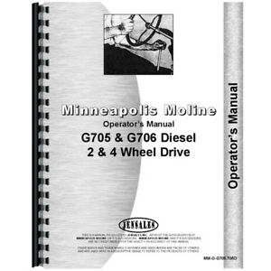 New Minneapolis Moline G705 Tractor Operator s Manual