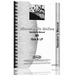 Mm o m5 G Lp New Operators Manual Made For Minneapolis Moline Tractor Model M5