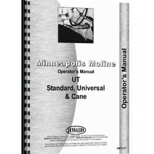 New Operators Manual Made For Minneapolis Moline Tractor Models Utc Lp