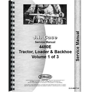 New Case 480e Tractor Service Manual