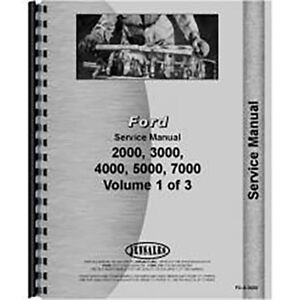 New Ford 5000 Tractor Service Manual