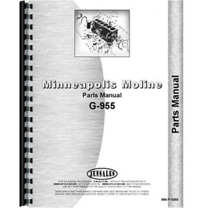 New Minneapolis Moline G955 Tractor Parts Manual